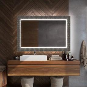 Espelho com iluminação led DecorRectangulares espelho decorativo com iluminação para o banheiro  x=60 x   y=60 cm