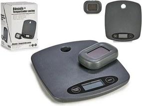 balança de cozinha Cinzento Aço (3 x 29 x 19 cm) Digital Temporizador