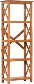 Estante 60x30x180 cm acácia maciça c/ acabamento em sheesham