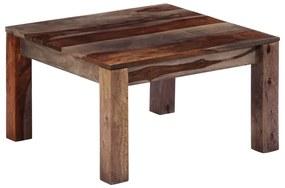 247471 vidaXL Mesa de centro 60x60x35 cm madeira de sheesham maciça cinzento
