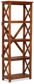 245646 vidaXL Estante madeira maciça c/ acabamento em sheesham 60x30x160 cm