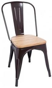 Cadeira Leeds Madeira Natural Cor: Castanho