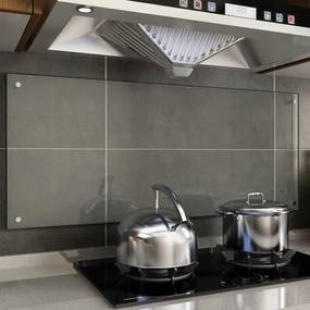 249479 vidaXL Painel anti-salpicos cozinha transparente 120x50 cm vidro temp.