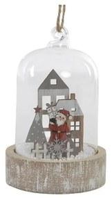 Figura Decorativa DKD Home Decor Natal Madeira Cristal Casa (8 x 8 x 12.5 cm)