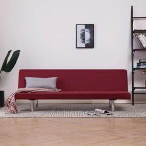 Sofá-cama poliéster vermelho tinto