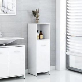 802594 vidaXL Armário casa de banho 30x30x95 cm contrapl. branco brilhante