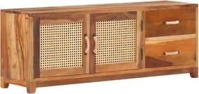 Móvel de TV 120x30x45 cm madeira recuperada maciça