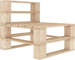 Sofá de centro em paletes para jardim madeira