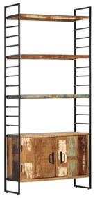 284419 vidaXL Estante c/ 4 prateleiras 80x30x180 cm madeira recuperada maciça