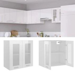 802526 vidaXL Armário de parede c/ vidro 60x31x60 cm contraplacado branco