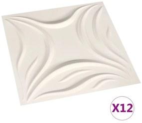 146297 vidaXL Painéis de parede 3D 12 pcs 0,5x0,5 m 3 m²