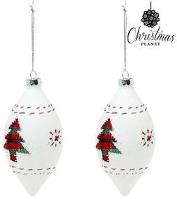Bolas de Natal (2 uds) Cristal Branco