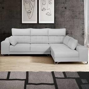 Sofá com Pouf e Assentos Deslizantes | Panama - 3 Assentos » L 300 cm