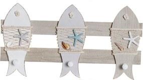 Bengaleiro de parede DKD Home Decor Corda Madeira MDF (45 x 5 x 24 cm)