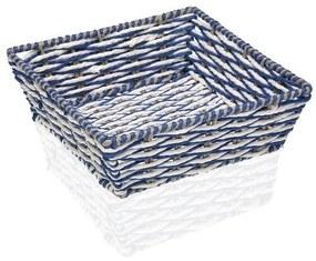 Cesta Decorativa Plástico (23 x 8 x 23 cm) - Castanho