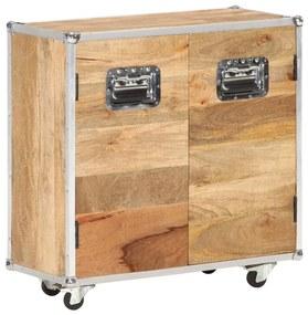 287902 vidaXL Aparador com 2 portas 70x30x69 cm madeira de mangueira maciça