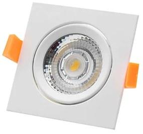 Downlight LED Basculante Quadrado IP20 - 9W 3000K