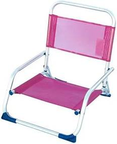 Cadeira de Campismo Acolchoada Alumínio Cor de Rosa (49,5 x 60,5 cm)