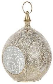 Lanterna decorativa em metal dourado 33 cm LAESO