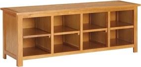 Sapateira 120x37x45 cm madeira de carvalho maciça