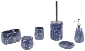 Conjunto de 6 peças de casa de banho azul ANTUCO