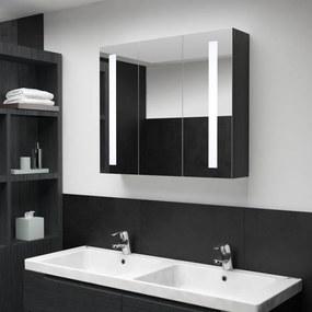 325544 vidaXL Armário espelhado para casa de banho com LED 89x14x62 cm
