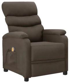 289692 vidaXL Poltrona de massagens reclinável couro artificial cinzento