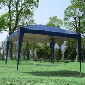 Outsunny Pérgola para jardim com Janelas e Bolsa de Transporte 3x3m Azul