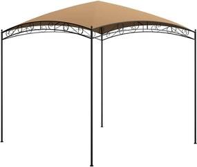 Gazebo 3x3x2,65 m 180 g/m² cinzento-acastanhado