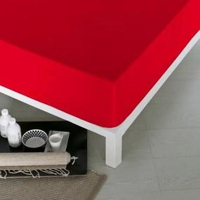 Lençol de baixo ajustável Naturals Vermelho - Cama de 150 (150 x 190 cm) (S2800050)