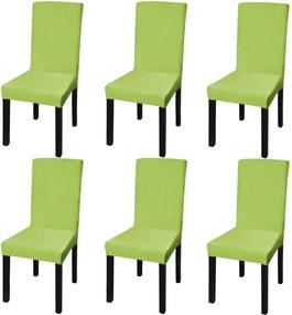 Capa extensível para cadeiras, 6 pcs, verde