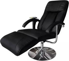 Cadeira de massagens couro artificial preto