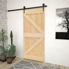 Porta 80x210 cm madeira de pinho maciça