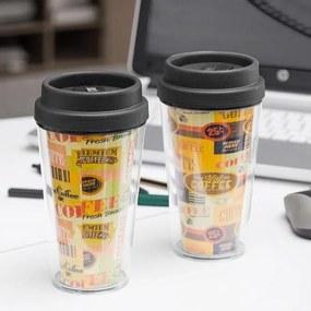 Copo com Tampa e Dupla Parede Coffee