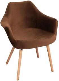 Cadeira Copenhaga Veludo Cor: Castanho