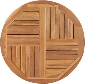 Tampo de mesa redondo 2,5 cm 90 cm madeira de teca maciça