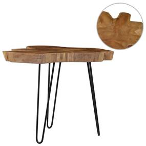 281643 vidaXL Mesa de centro (60-70)x45 cm madeira de teca