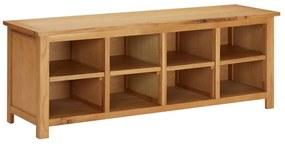 289190 vidaXL Sapateira 120x37x45 cm madeira de carvalho maciça