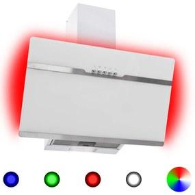 51244 vidaXL Exaustor RGB LED 60 cm aço inoxidável e vidro temperado