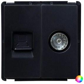 Módulo de Tomada de TV RJ45 Ledkia PC