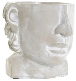 Plantador DKD Home Decor Cinzento Cimento (17 x 18 x 15.5 cm)