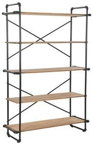 246424 vidaXL Estante em madeira de abeto maciça e aço 120x42x180 cm