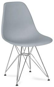 Cadeira Oslo Cromado Cor: Cinzento