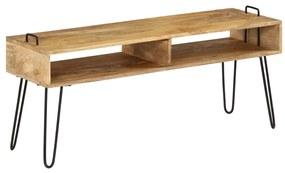 246021 vidaXL Móvel de TV madeira de mangueira maciça 110x35x45 cm