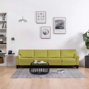 Sofá de 4 lugares em tecido verde