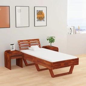 288309 vidaXL Estrutura de cama 90x200 cm madeira de acácia maciça