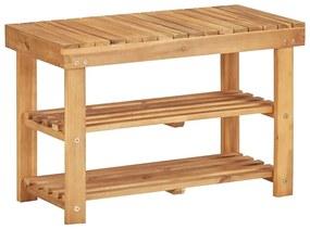 45930 vidaXL Sapateira 70x32x46 cm madeira de acácia maciça