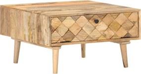 Mesa de centro 68x68x38 cm madeira de mangueira maciça