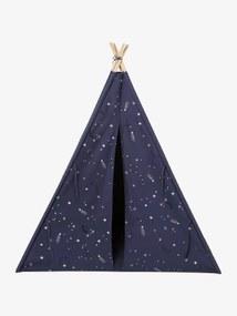Tipi com detalhes fosforescentes, Constelação azul escuro estampado