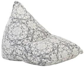 287730 vidaXL Sofá/pufe retalhos de tecido cinzento-claro